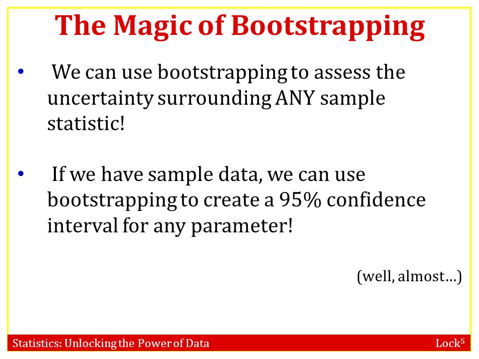 The Magic of Bootstrapping