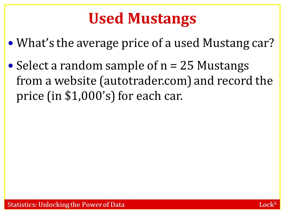 Used Mustangs What's the average price of a used Mustang car