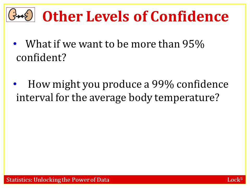 Other Levels of Confidence
