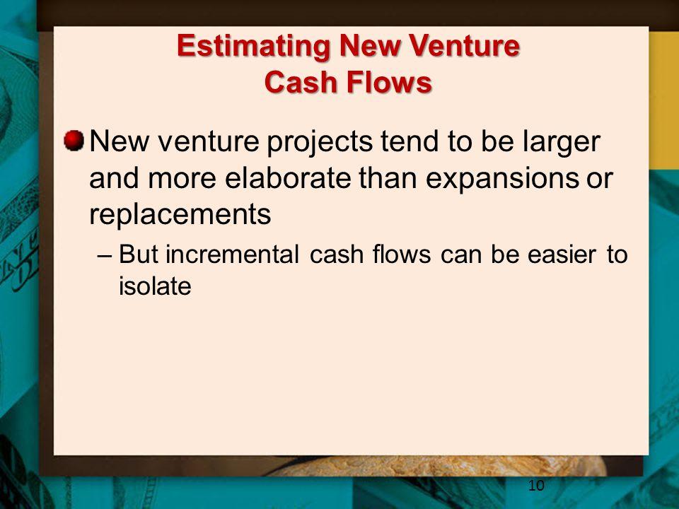 Estimating New Venture Cash Flows
