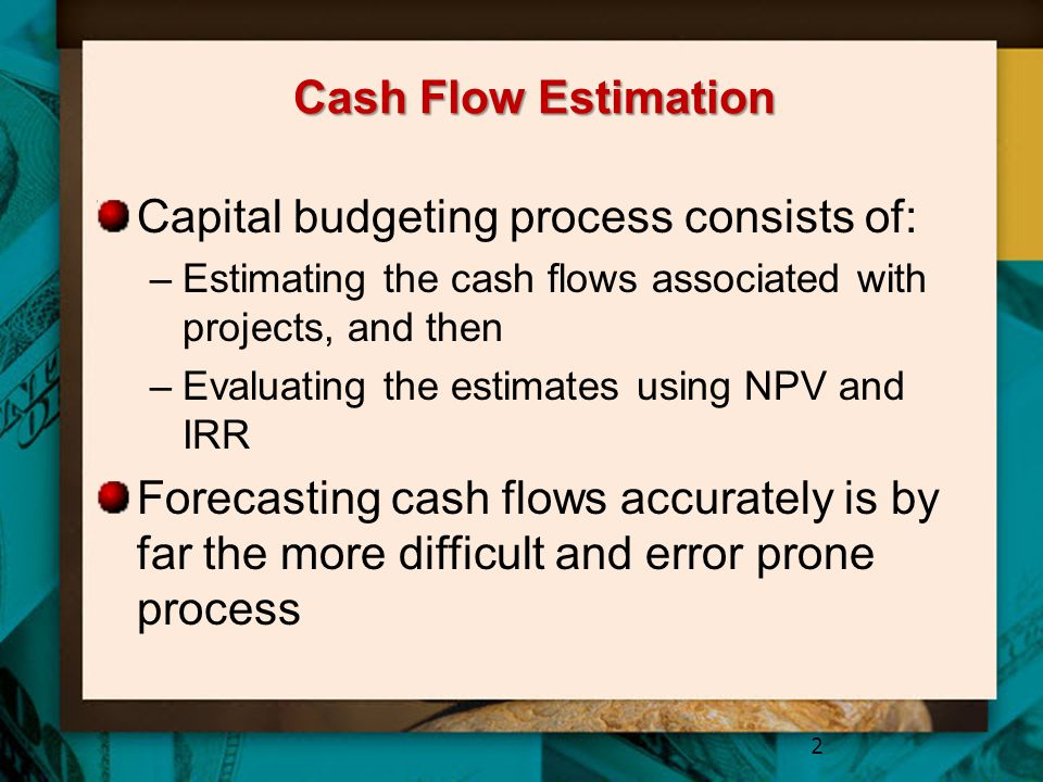 Capital budgeting process consists of: