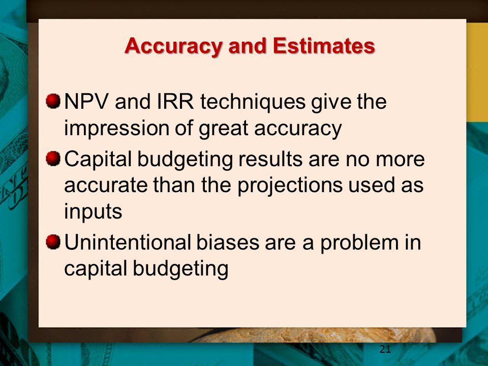 Accuracy and Estimates