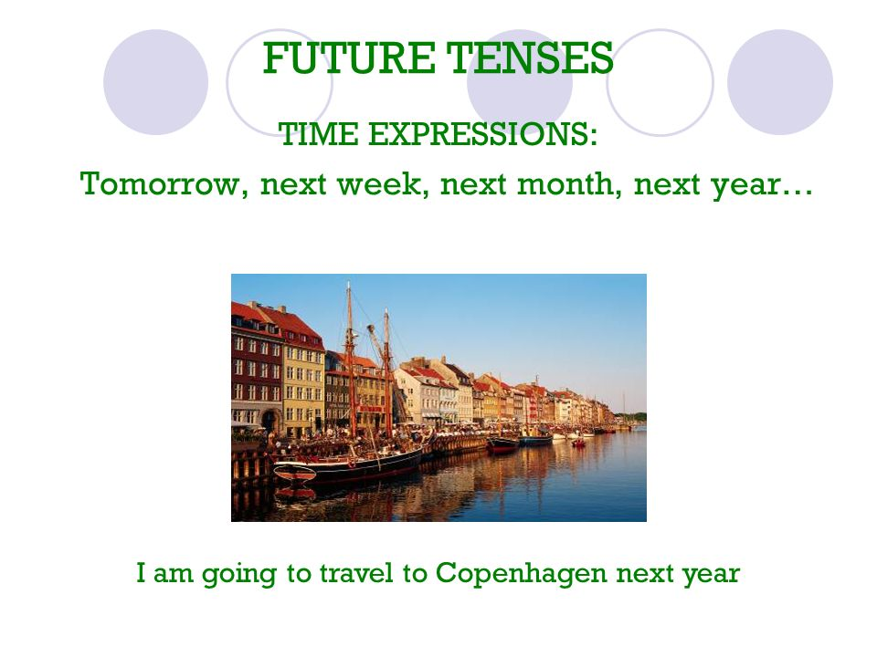 FUTURE TENSES TIME EXPRESSIONS: