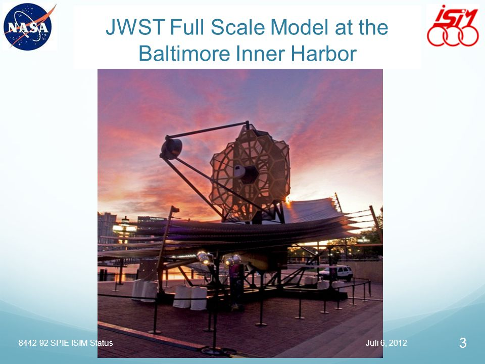 JWST Full Scale Model at the Baltimore Inner Harbor