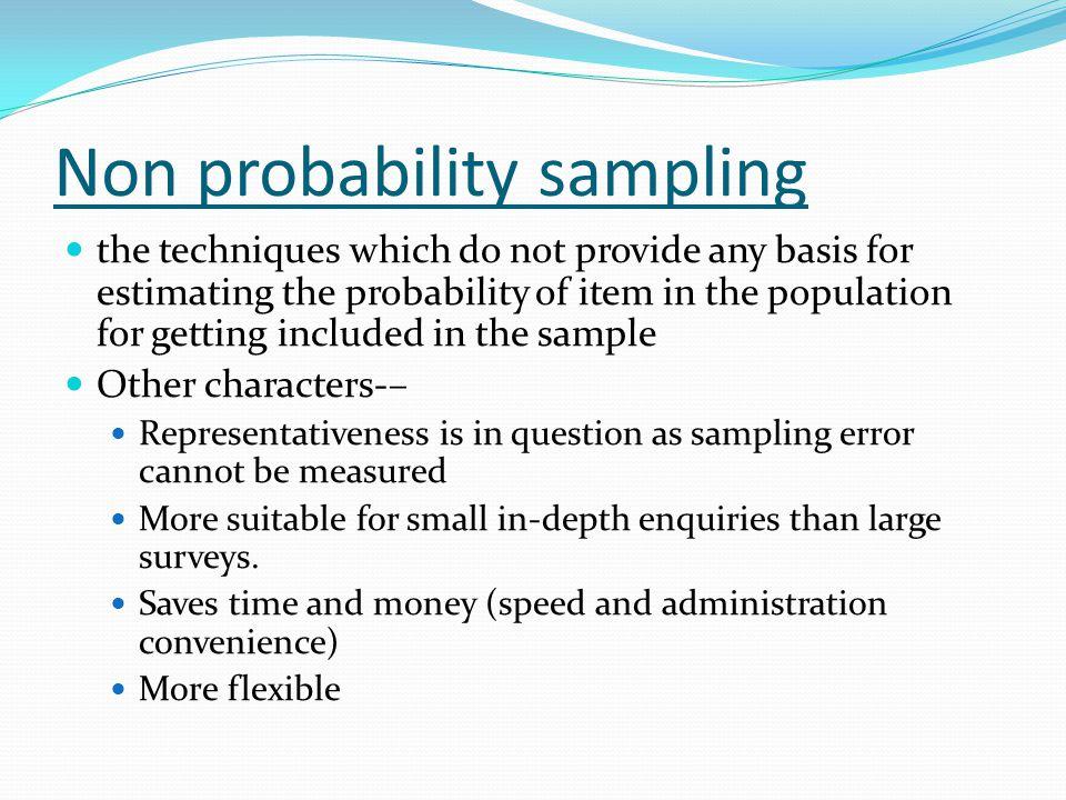 Non probability sampling