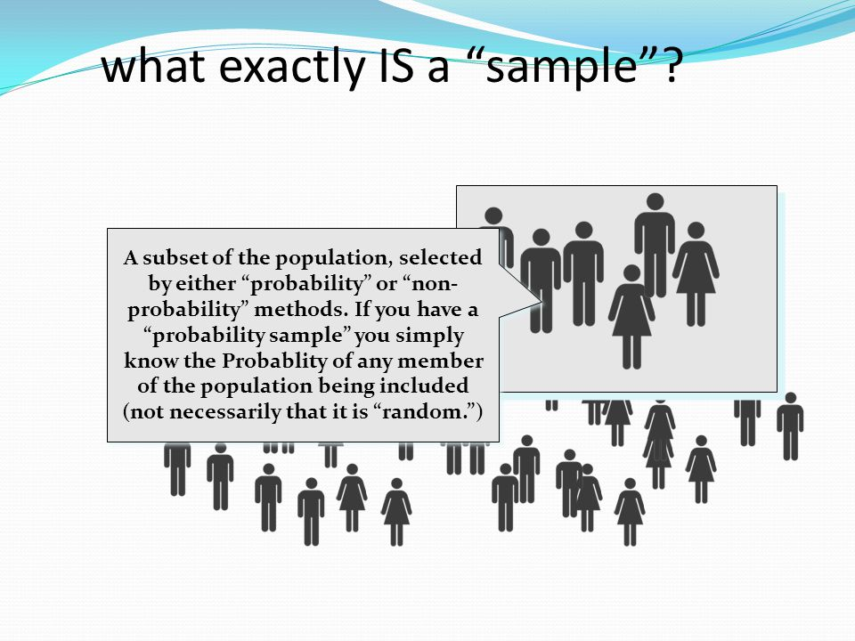 what exactly IS a sample
