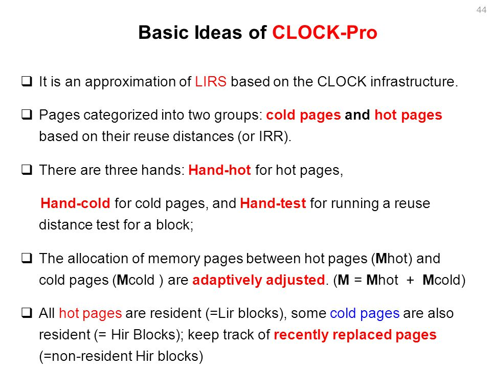 Basic Ideas of CLOCK-Pro