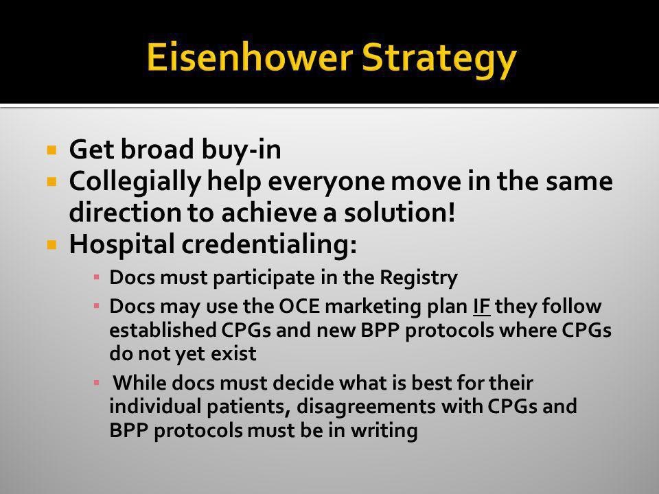 Eisenhower Strategy Get broad buy-in