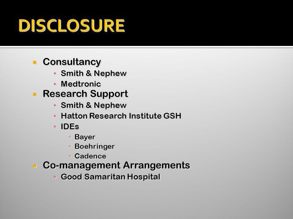 DISCLOSURE Consultancy Research Support Co-management Arrangements