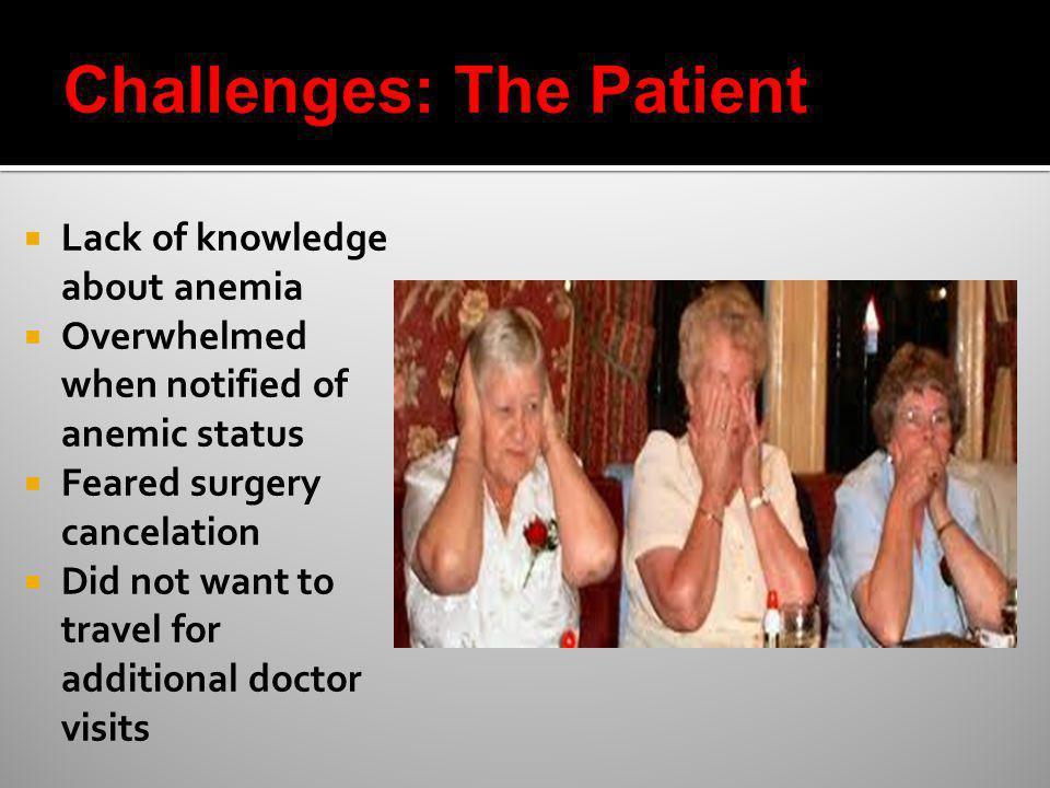 Challenges: The Patient