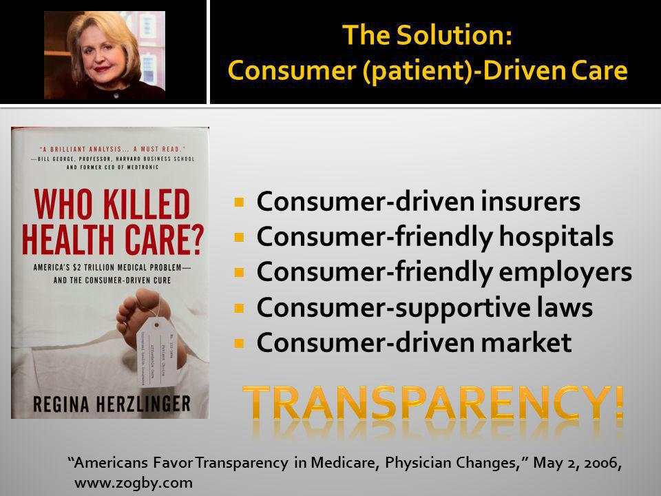 The Solution: Consumer (patient)-Driven Care
