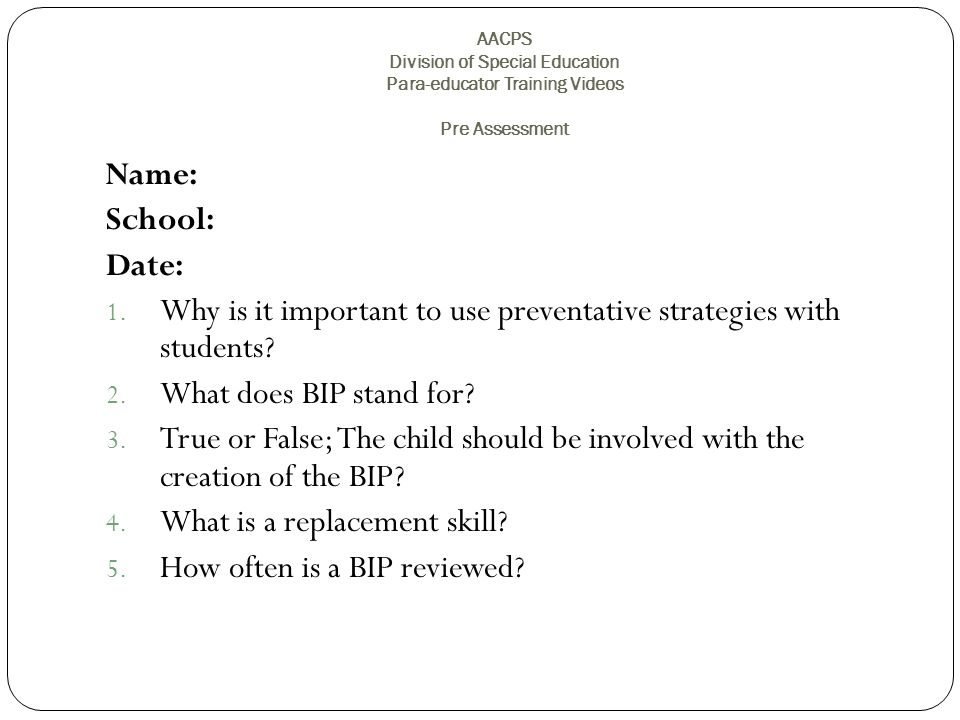 Why is it important to use preventative strategies with students