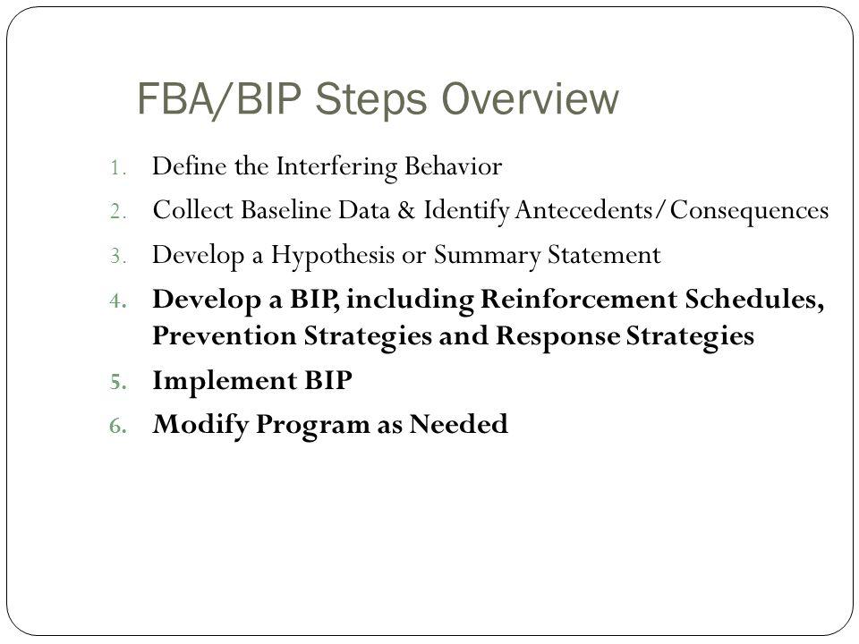 FBA/BIP Steps Overview