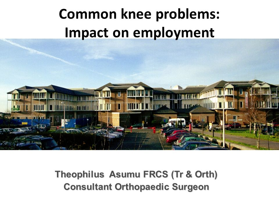 Common knee problems: Impact on employment