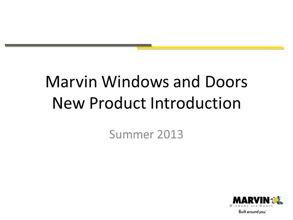 Marvin Windows and Doors New Product Introduction