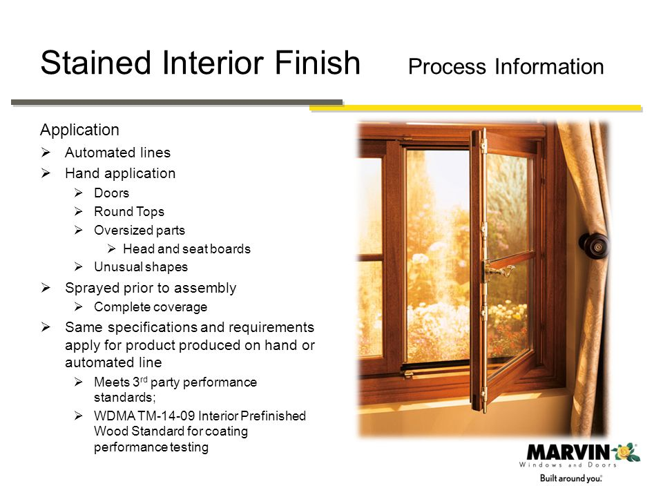 Stained Interior Finish Process Information