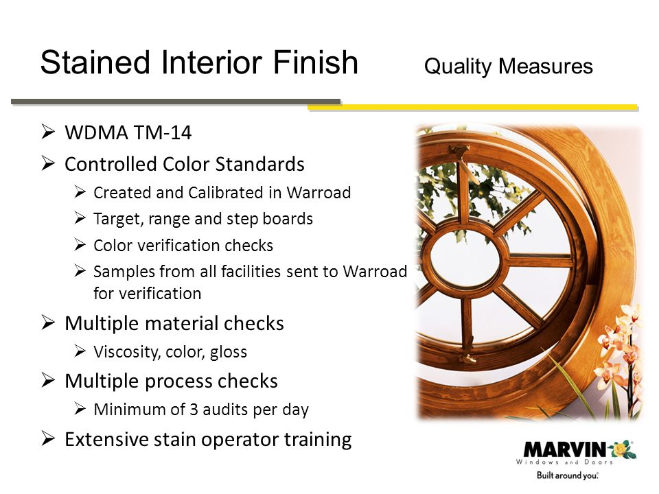 Stained Interior Finish Quality Measures