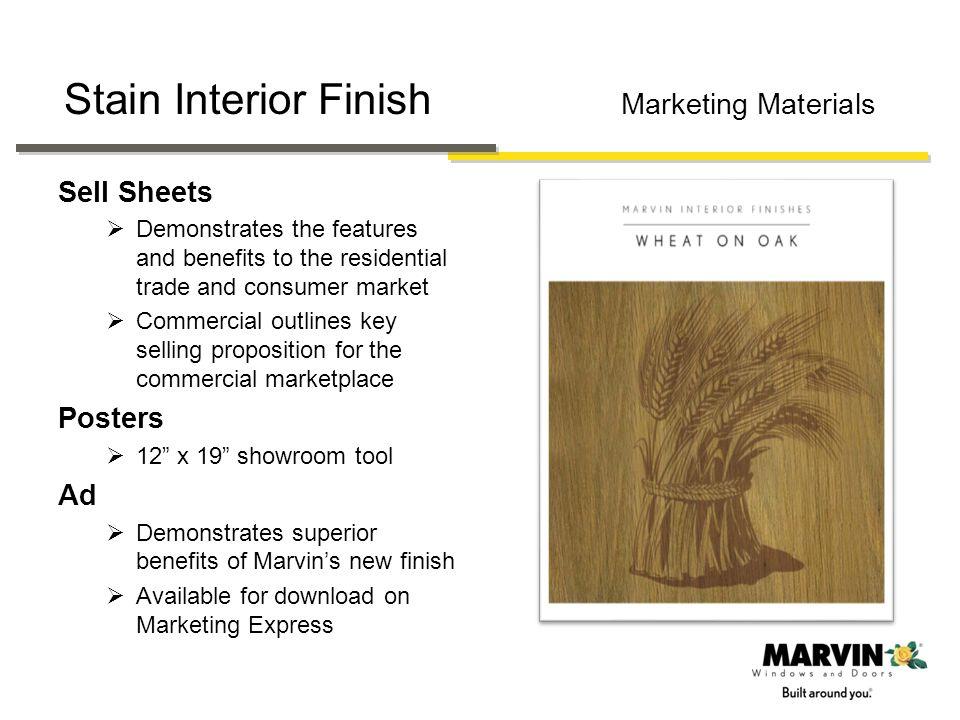 Stain Interior Finish Marketing Materials