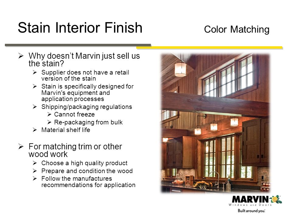 Stain Interior Finish Color Matching