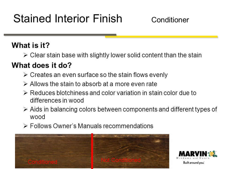 Stained Interior Finish Conditioner