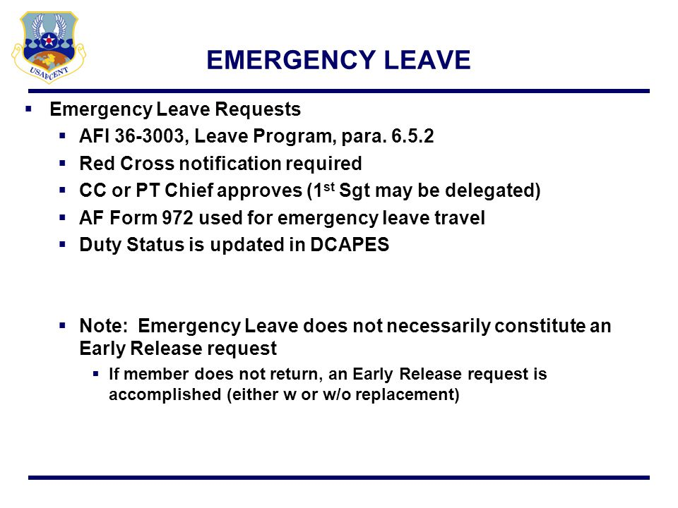 EMERGENCY LEAVE Emergency Leave Requests