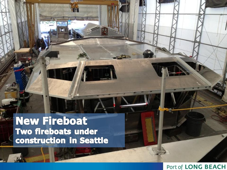 New Fireboat Two fireboats under construction in Seattle