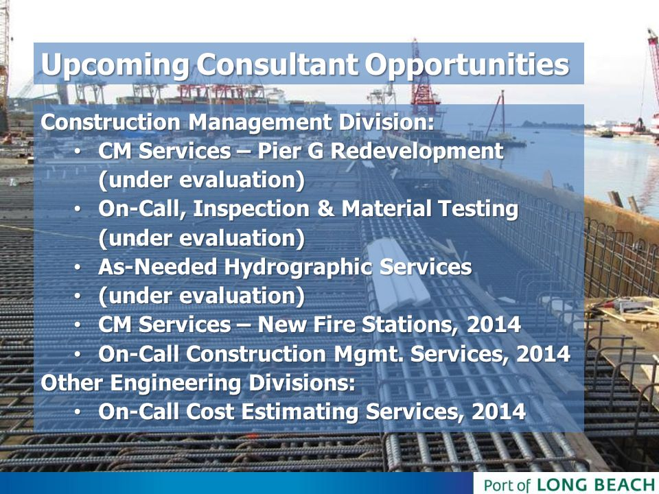 Upcoming Consultant Opportunities