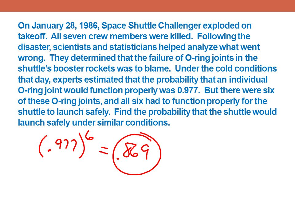 On January 28, 1986, Space Shuttle Challenger exploded on takeoff