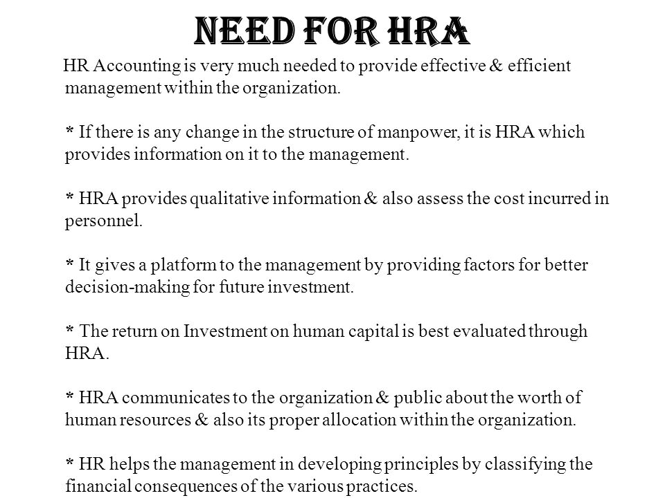 Need for hra