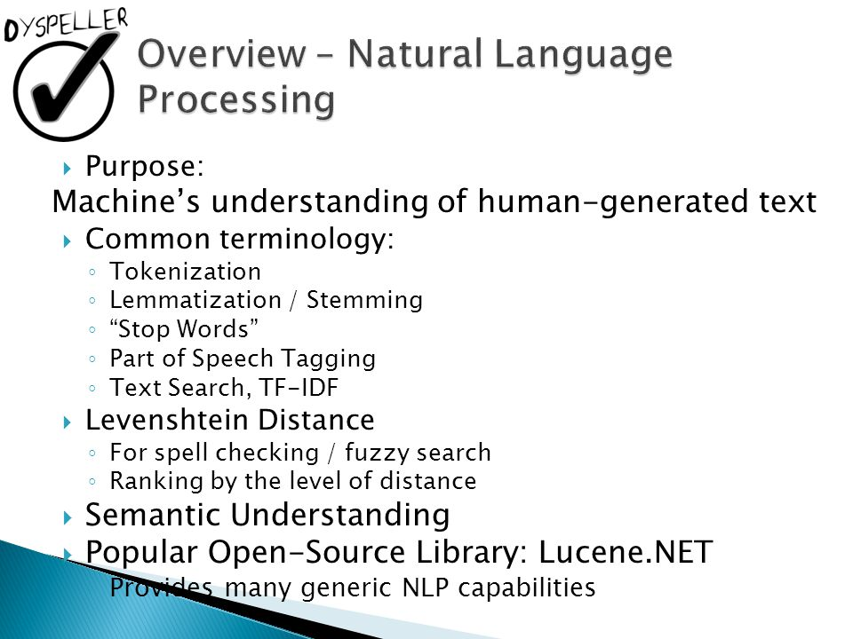 Overview – Natural Language Processing