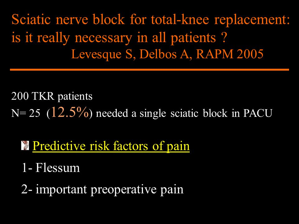 Sciatic nerve block for total-knee replacement: is it really necessary in all patients