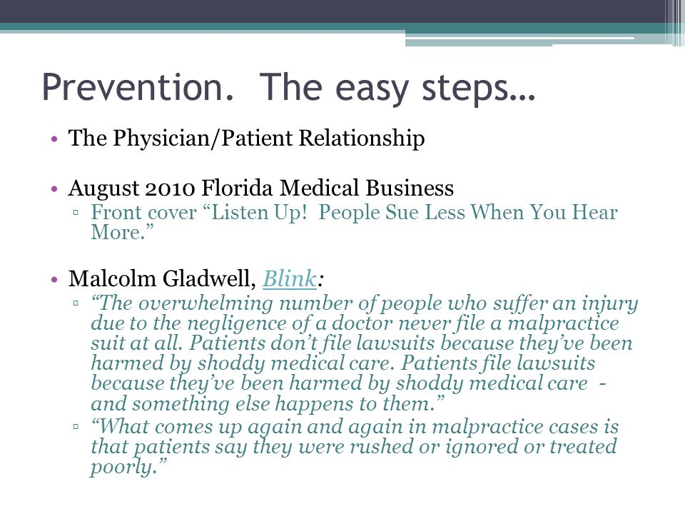 Prevention. The easy steps…