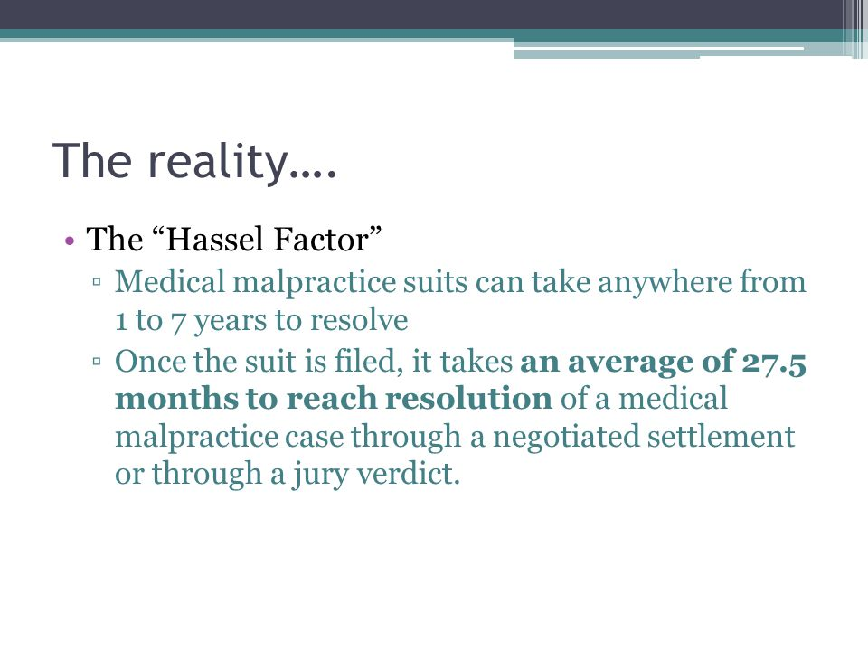 The reality…. The Hassel Factor