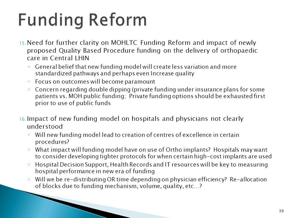 Funding Reform