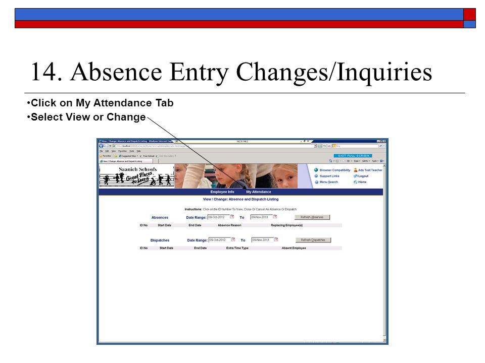 14. Absence Entry Changes/Inquiries