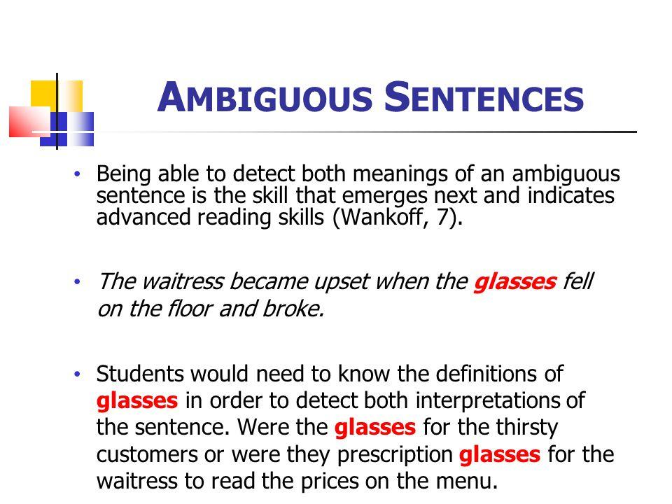 Ambiguous Sentences