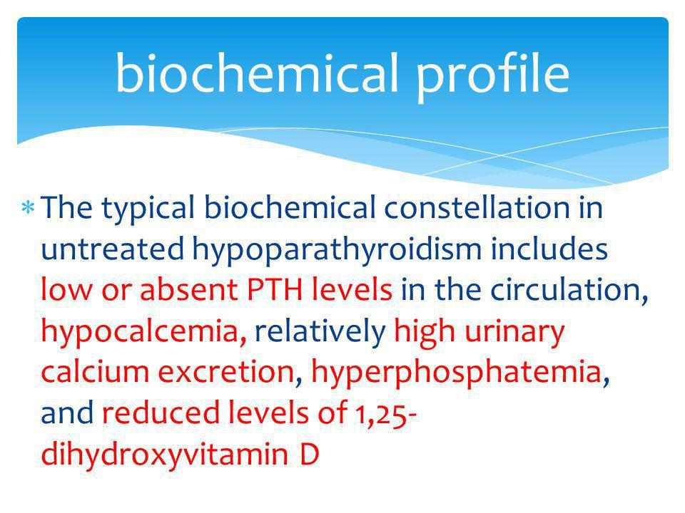 biochemical profile