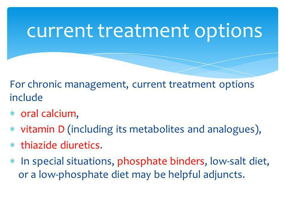 current treatment options