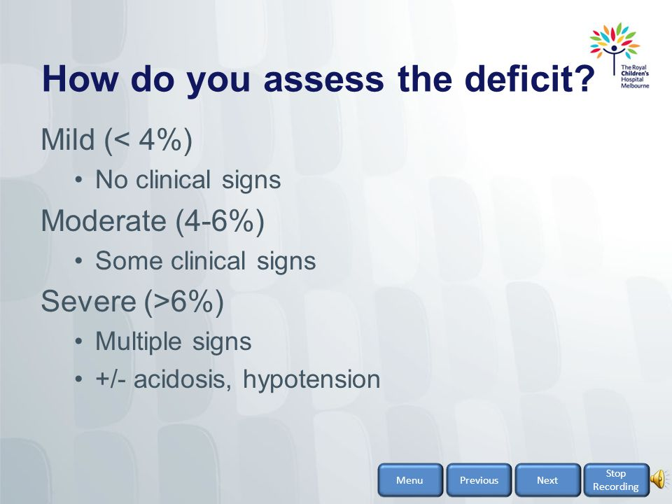 How do you assess the deficit