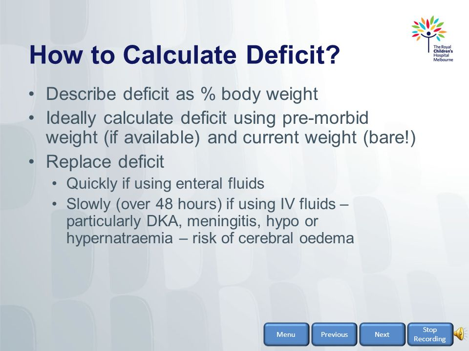 How to Calculate Deficit