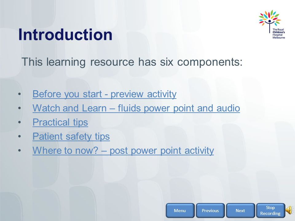 Introduction This learning resource has six components: