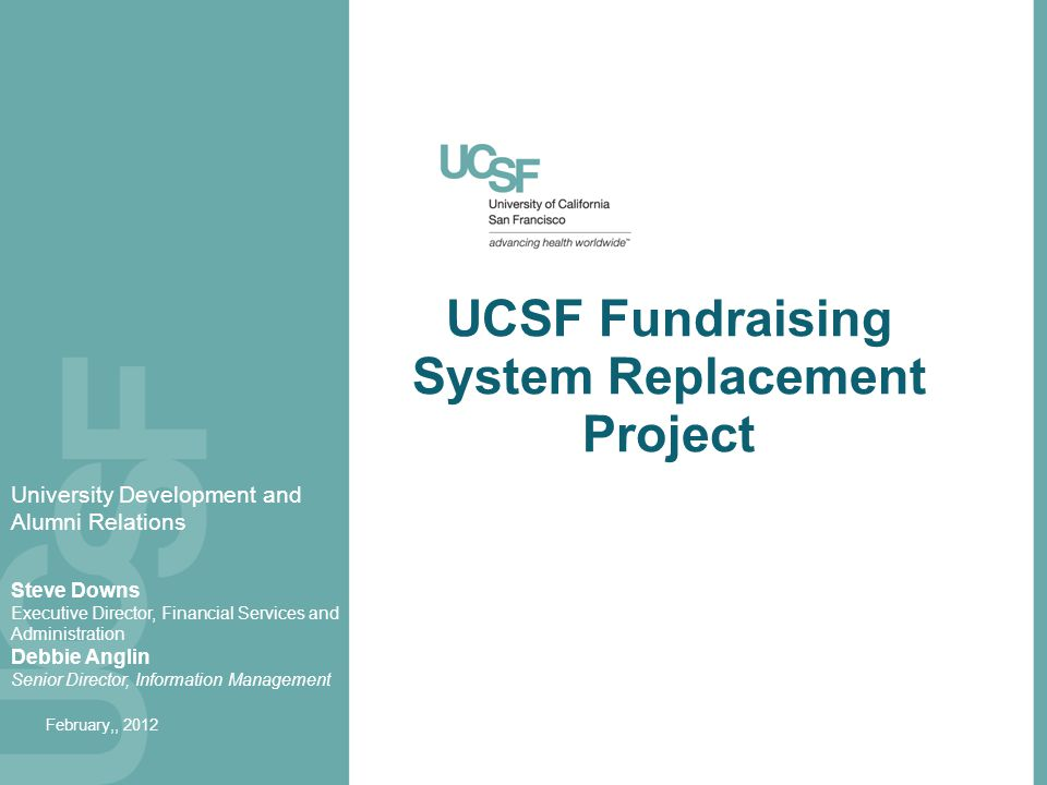 UCSF Fundraising System Replacement Project
