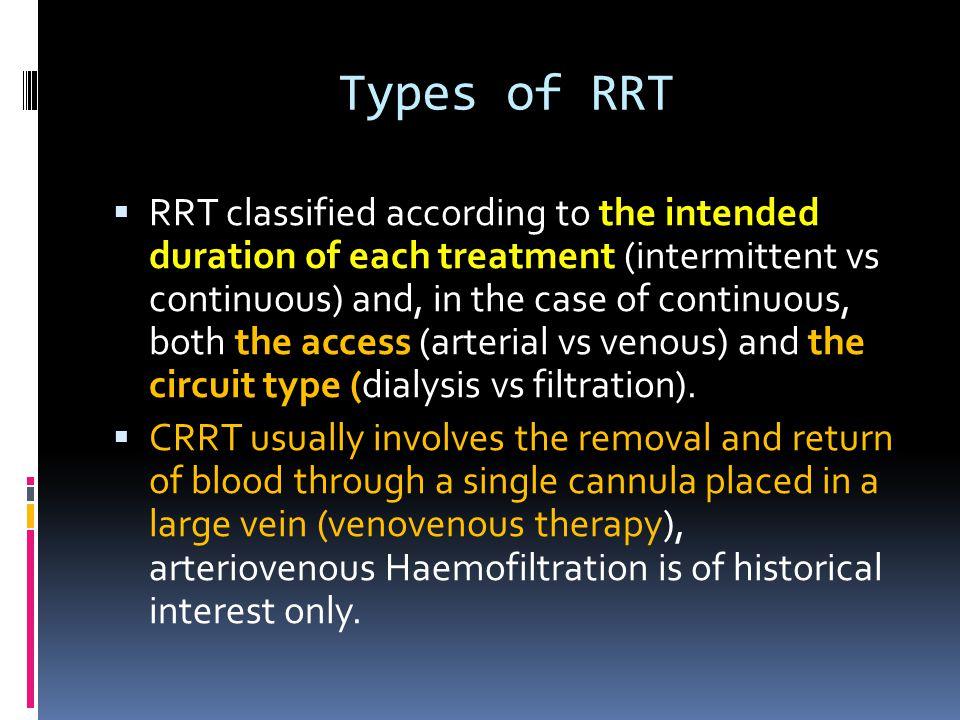 Types of RRT