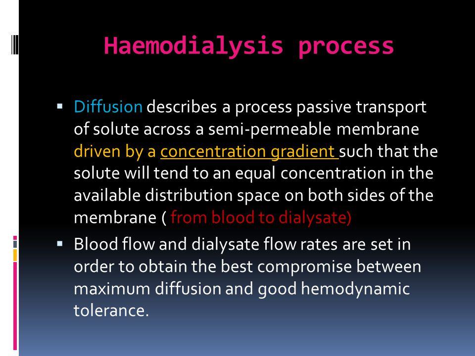 Haemodialysis process