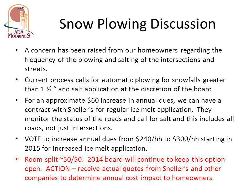 Snow Plowing Discussion