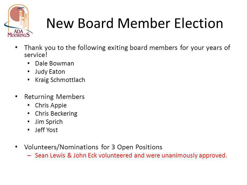 New Board Member Election