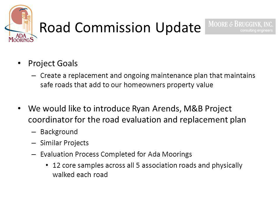 Road Commission Update