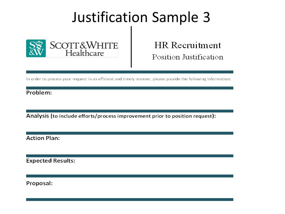 Justification Sample 3