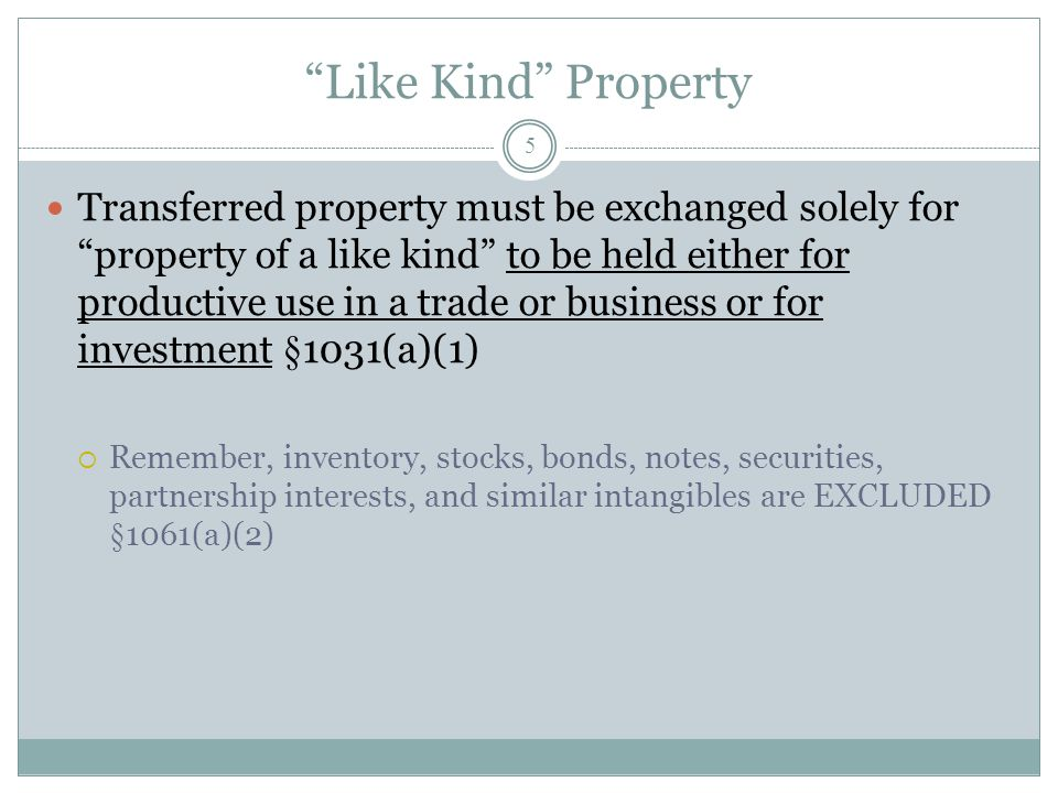 Like Kind Property