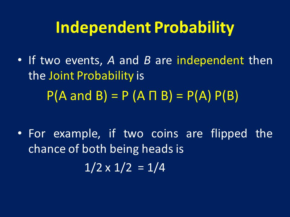 Independent Probability